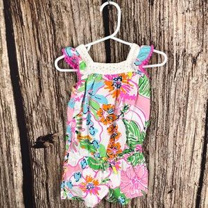 Lilly Pulitzer Target Floral Romper Nosie Posey